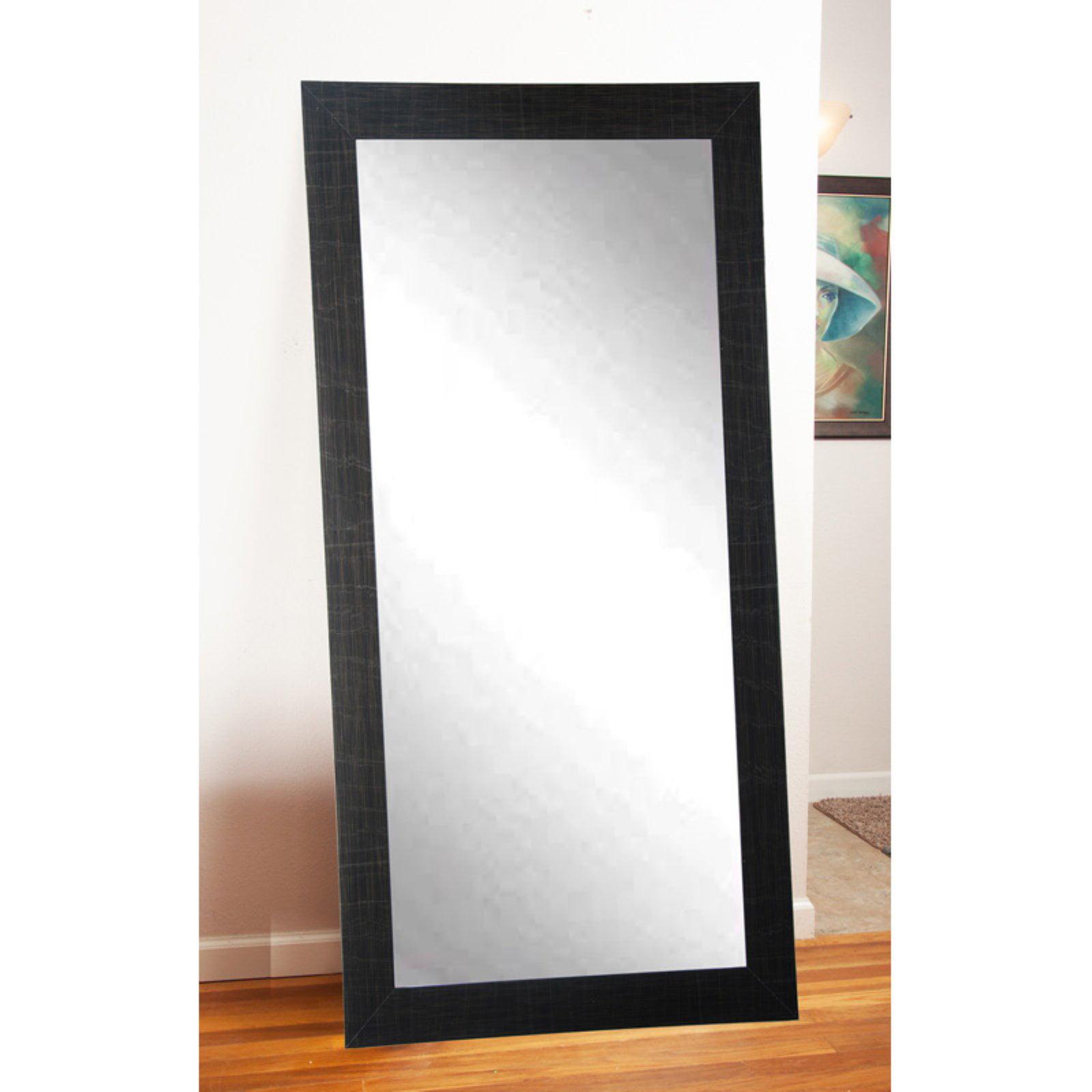 BrandtWorks Modern Leaning Floor Mirror Black by Overstock