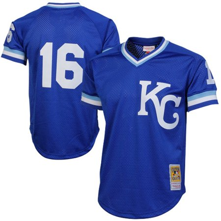Bo Jackson Kansas City Royals Mitchell & Ness 1989 Authentic Cooperstown Collection Batting Mesh Practice Jersey - Royal