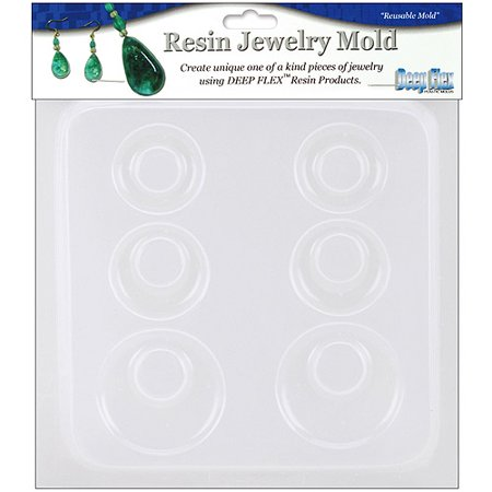 Resin Jewelry Reusable Plastic Mold, 6-1/2