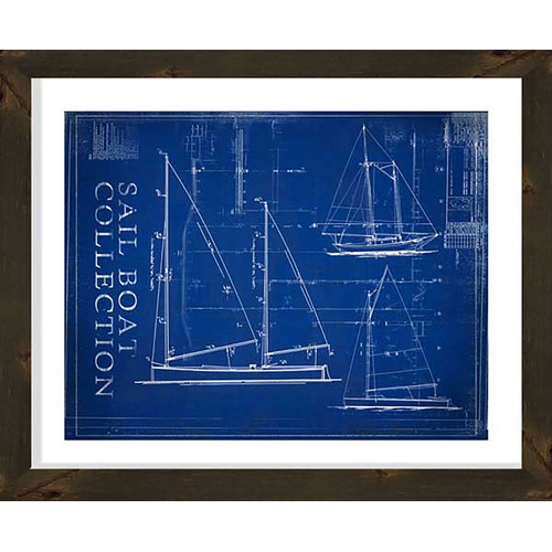PTM Images Sailboat Collection Gicl e Framed Graphic Art