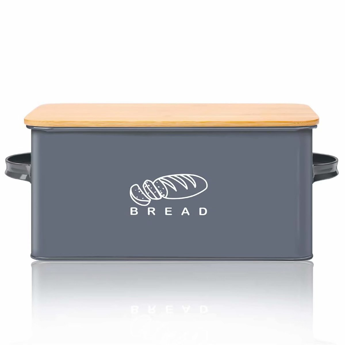 Bread Box For Kitchen Counter G A Homefavor Bread Bin Bread Holder With Bamboo Lid Kitchen Food Storage Containers Cake Keeper 11 56 6 7 5 5 Grey Walmart Com Walmart Com
