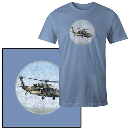 Men's Sikorsky UH-60 Black Hawk Army Helicopter War T-Shirt