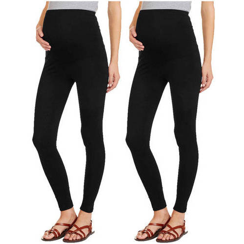 Oh! Mamma Maternity Full Panel Leggings, 2-Pack Value Bundle