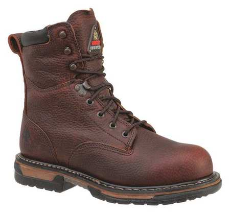 Rocky Size 12 Steel Toe Work Boots, Men's, Bridle Brown, M, 6693-12M