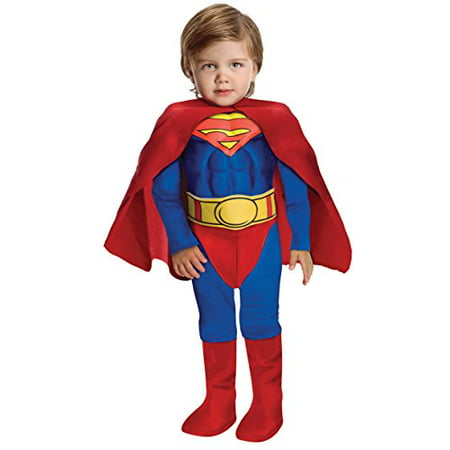 Super DC Heroes Deluxe Muscle Chest Superman Costume, Toddler (Heros Costumes)