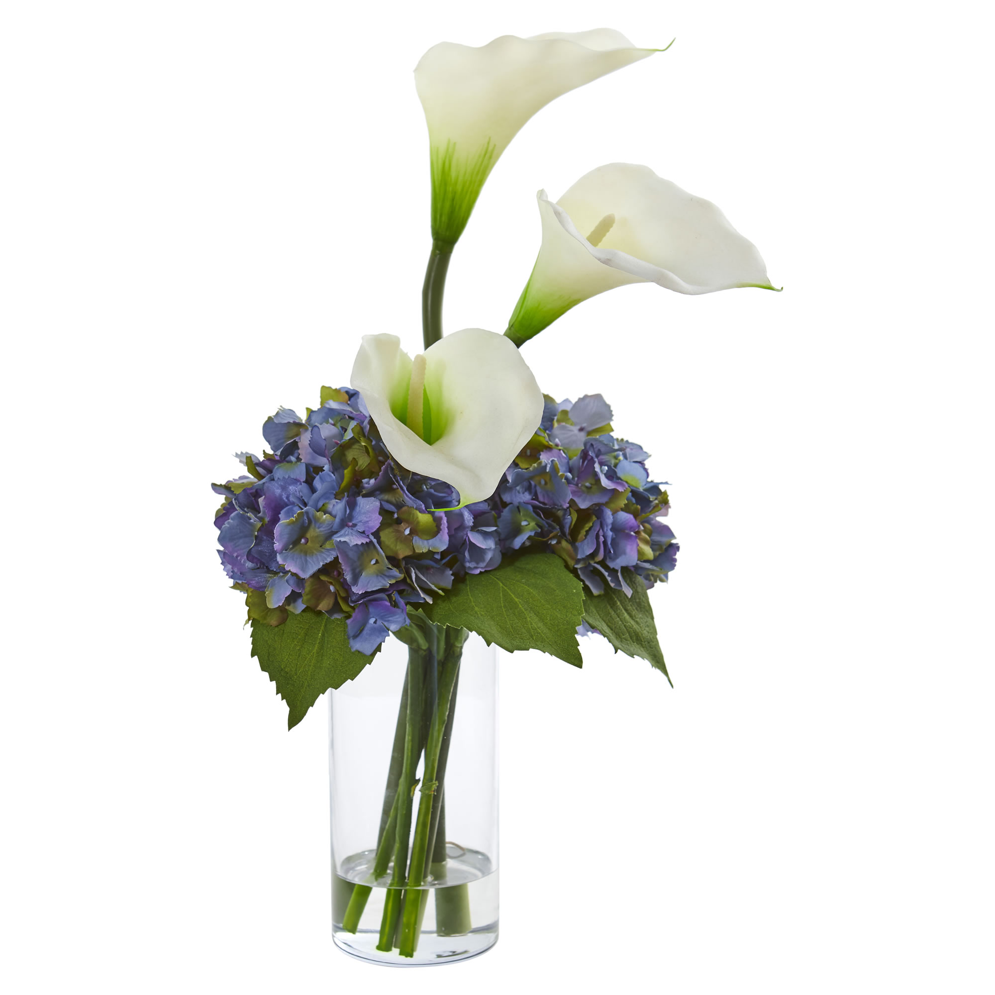 Nearly Natural Calla Lily and Hydrangea Artificial Arrangement