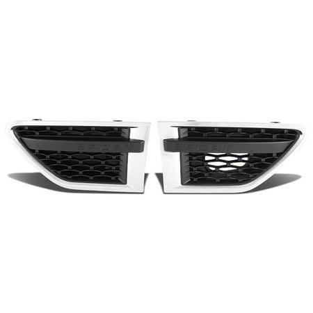 For 10-12 Land Rover Range Rover Sport Side Fender Vent Mesh Grille (Chrome Surface Black Mesh) - L322 Facelifted 11