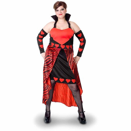 Lava Diva Queen of Hearts Women's Plus Size Adult Halloween Costume - Plus Size Queen Of Hearts Halloween Costume