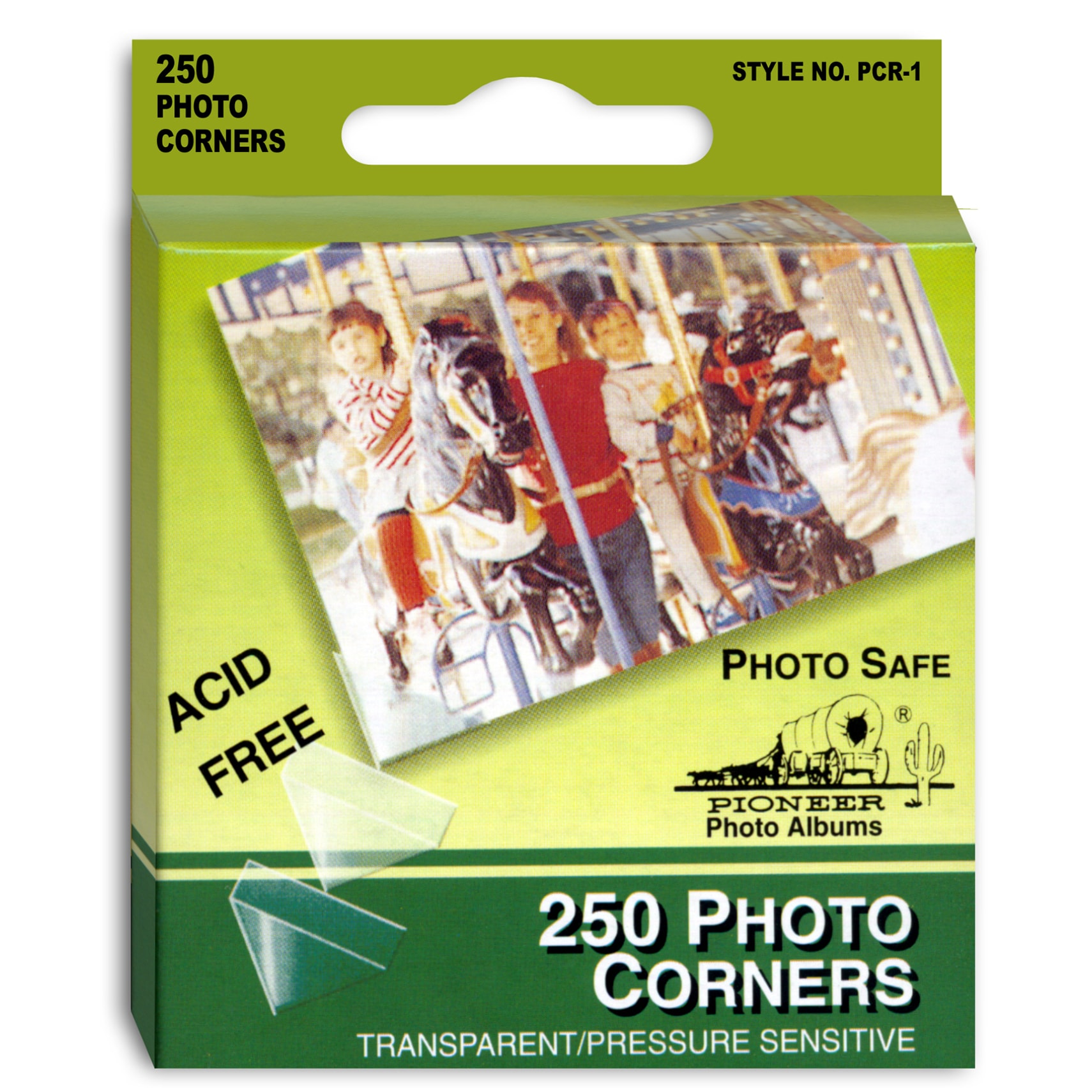 Clear Pioneer PCR-1 Photo Corners Self Adhesive 250-Pack