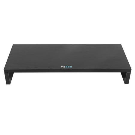 Keyboard Storage - Sonew Desktop Monitor Riser Desktop Stand with keyboard Storage Space Organizer Display Shelf