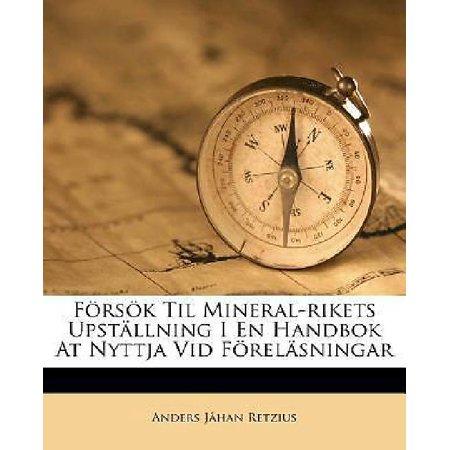 F Rs K Til Mineral Rikets Upst Llning I En Handbok At Nyttja Vid F Rel Sningar