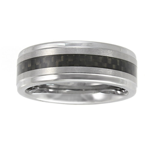 Men's Ring in Tungsten and Carbon Fiber