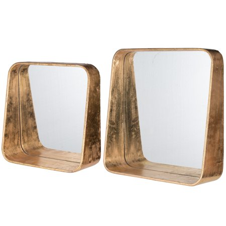 A Home Vanda Square Mirrors  Set Of 2