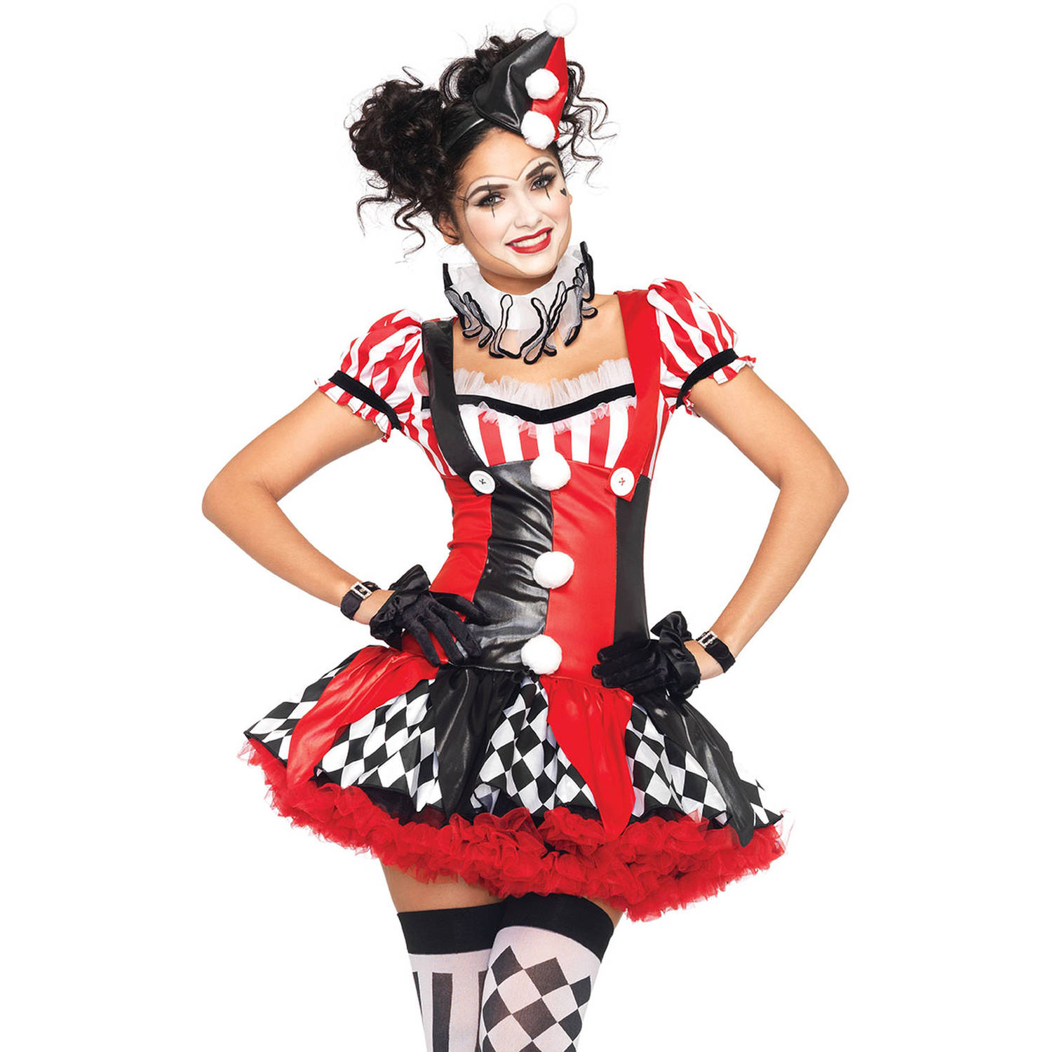 Leg Avenue Harlequin Clown Adult Halloween Costume