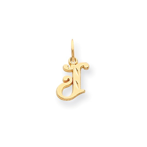 14k Yellow Gold Initial J Charm (0.7in long x 0.4in wide)