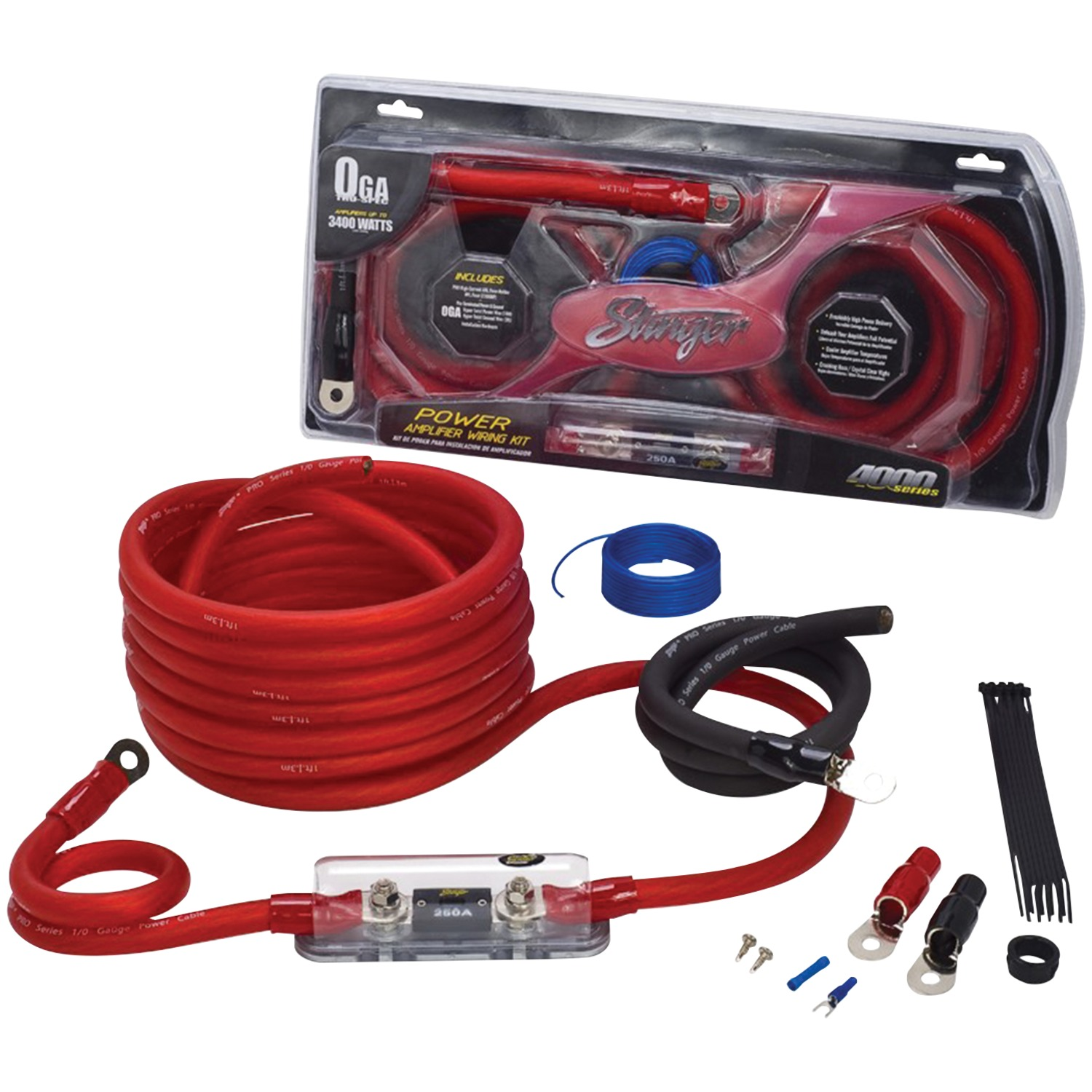 Stinger SK4201 4000 Series 1/0-Gauge Power Wiring Kit