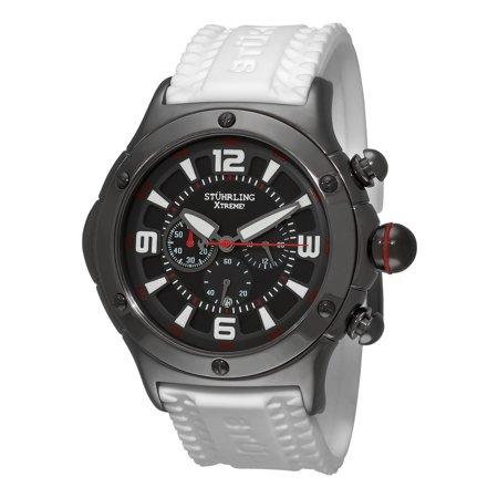 Chronograph Tachymeter Rubber (Stuhrling Original  Men's Alpine Sport Chronograph Quartz Rubber Strap Watch )