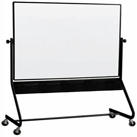 Euro Reversible Board - Best-Rite Euro Reversible Mobile Whiteboard, Porcelain Markerboard Both Sides, Panel Size 4 x 6 Feet (667RG-DD)