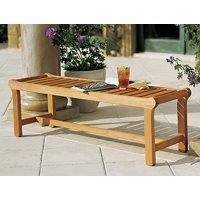 "WholesaleTeak Outdoor Patio Grade-A Teak Wood 55"" Revni Backless Bench #WMBHBL"