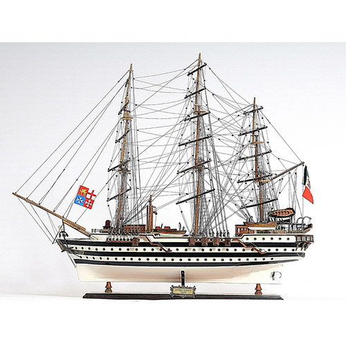 Old Modern Handicrafts Amerigo Vespucci Painted Model Ship by Old Modern Handicrafts