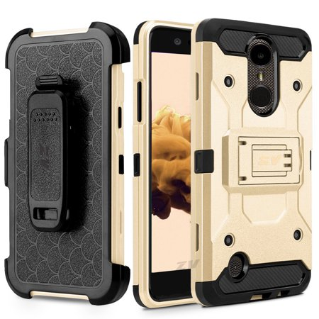 - LG K20 Plus Case, ZV Tough Armor Cover w/ [Heavy Duty Kickstand] Holster Clip and a [Shockproof Dual Layer Case] Strong Protective - LG Harmony