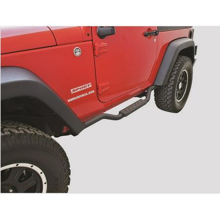 Rampage 26627 Slimline 2 in. Round Side Bar Cab Length Fits 07-18 Wrangler (JK) - image 1 de 2