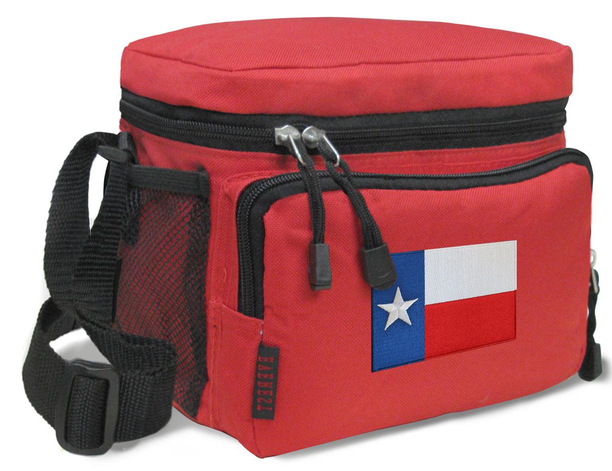 Texas Lunch Bag Texas Flag Lunchbox Cooler ADJUSTABLE SHOULDER BAG