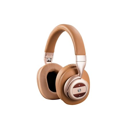 monoprice sonicsolace active noise cancelling bluetooth wireless headphones champagne with tan. Black Bedroom Furniture Sets. Home Design Ideas