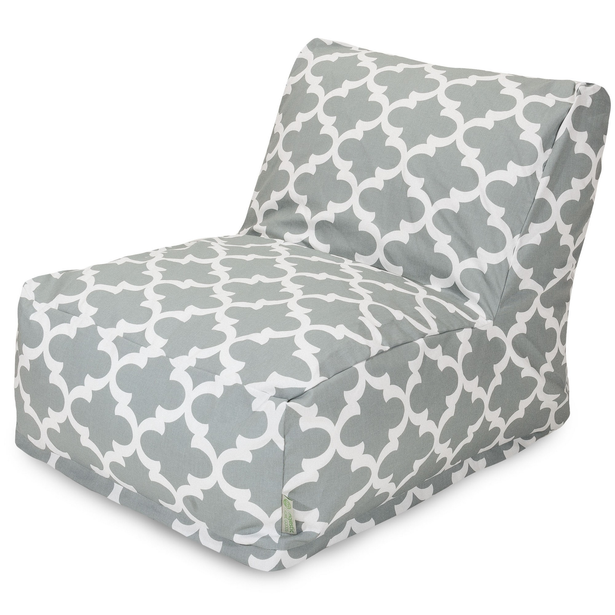 Majestic Home Goods LG Gray Trellis Bean Bag Chair Lounger