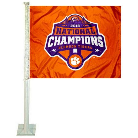 Football Shaped Car Flag (Clemson University 2018 Football National Champions 12