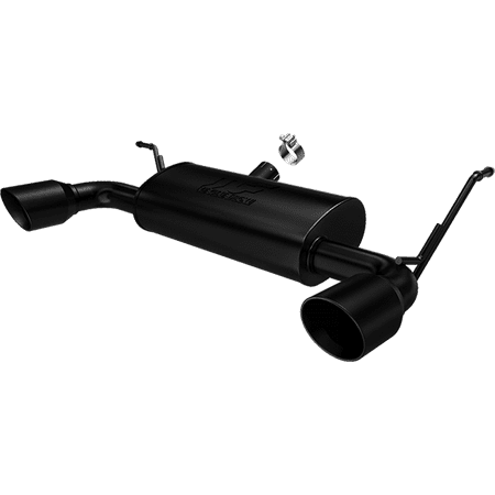 Hb Cat Back Exhaust - MagnaFlow 07-14 Jeep Wrangler JK 3.8/3.6L Dual Split Rear Exit Black Axle-Back Cat Back Exhaust