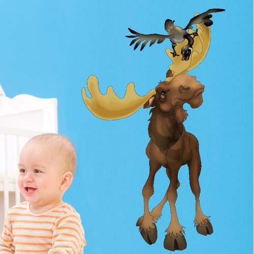 Wallhogs Moose and Friend Wall Decal