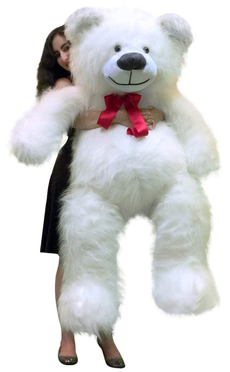 American Made 5 Foot Giant White Teddy Bear 60 Inch Soft Made in USA by BigPlush