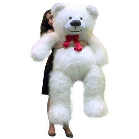 American Made 5 Foot Giant White Teddy Bear 60 Inch Soft Made in USA (America Teddy Bear)