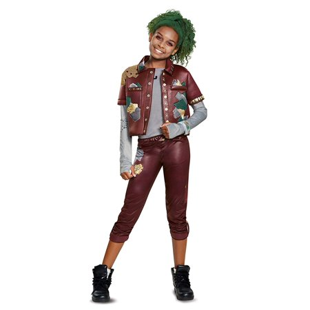 Halloween Costume Makeup Games (Disney Zombies Classic Eliza Girls Halloween Costume with Makeup Kit)