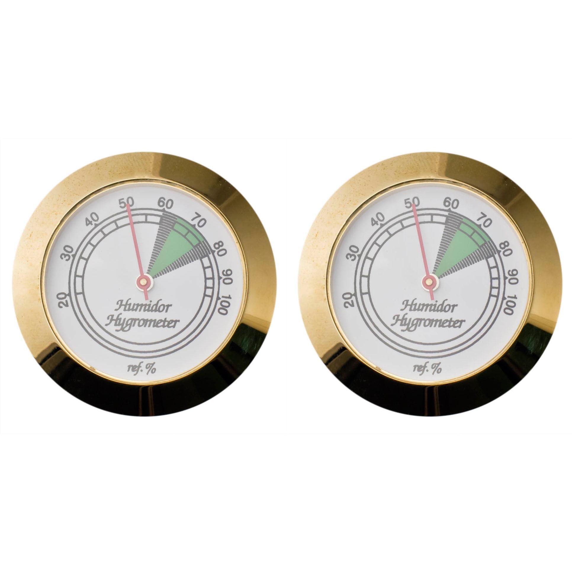 Visol  Goldtone Analog Hygrometer - Pack of Two