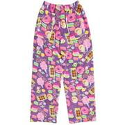 Big Girls Heavyweight Fun Print Plush Fleece Pants