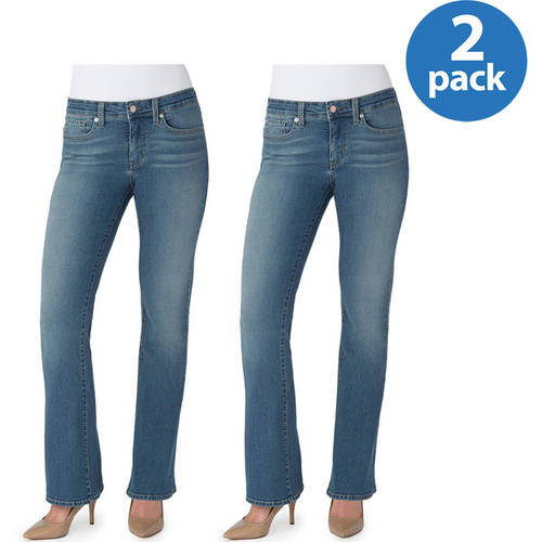 Signature by Levi Strauss & Co. Women's Totally Shaping Bootcut Jeans, 2 pack