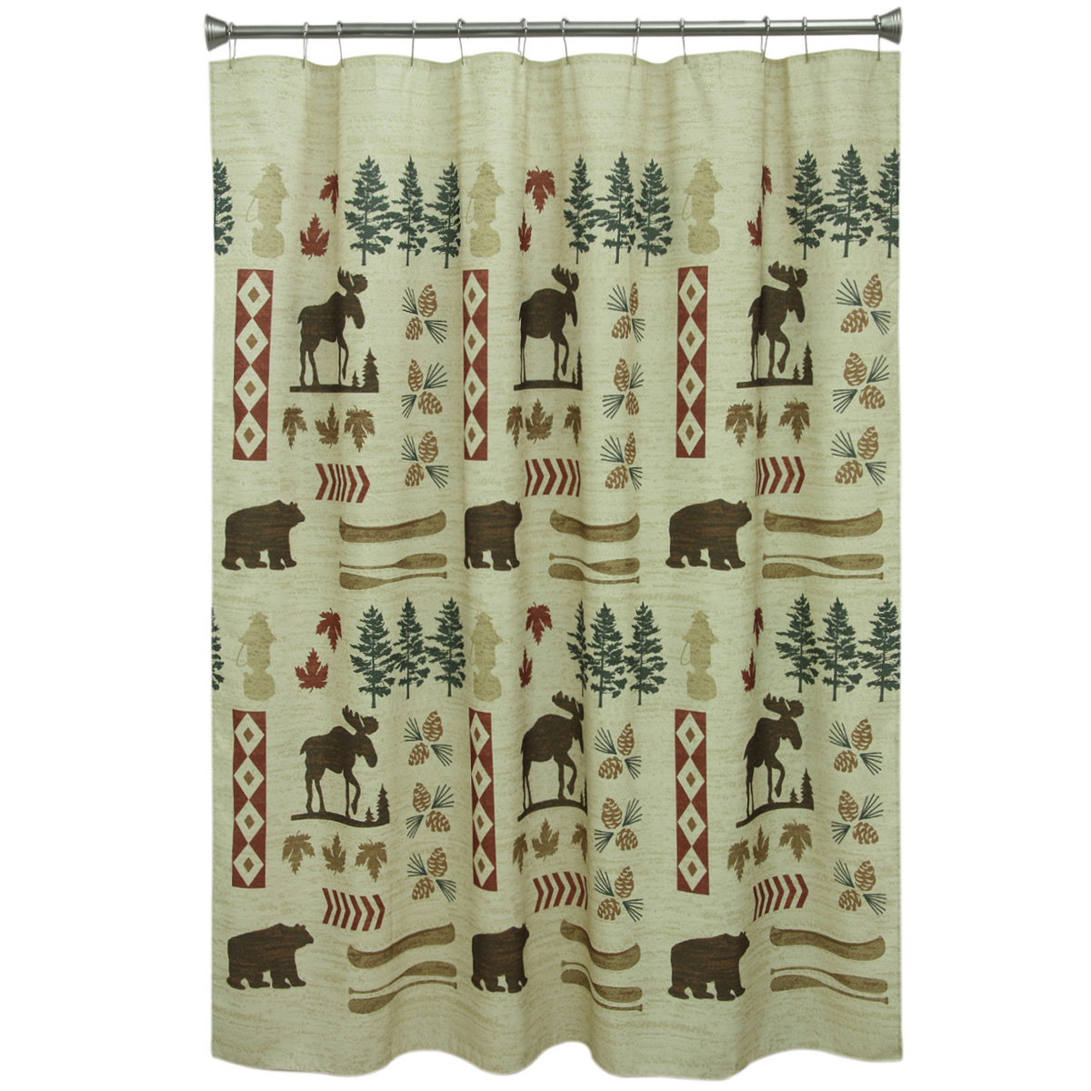 Moose And Bear Parade Shower Curtain