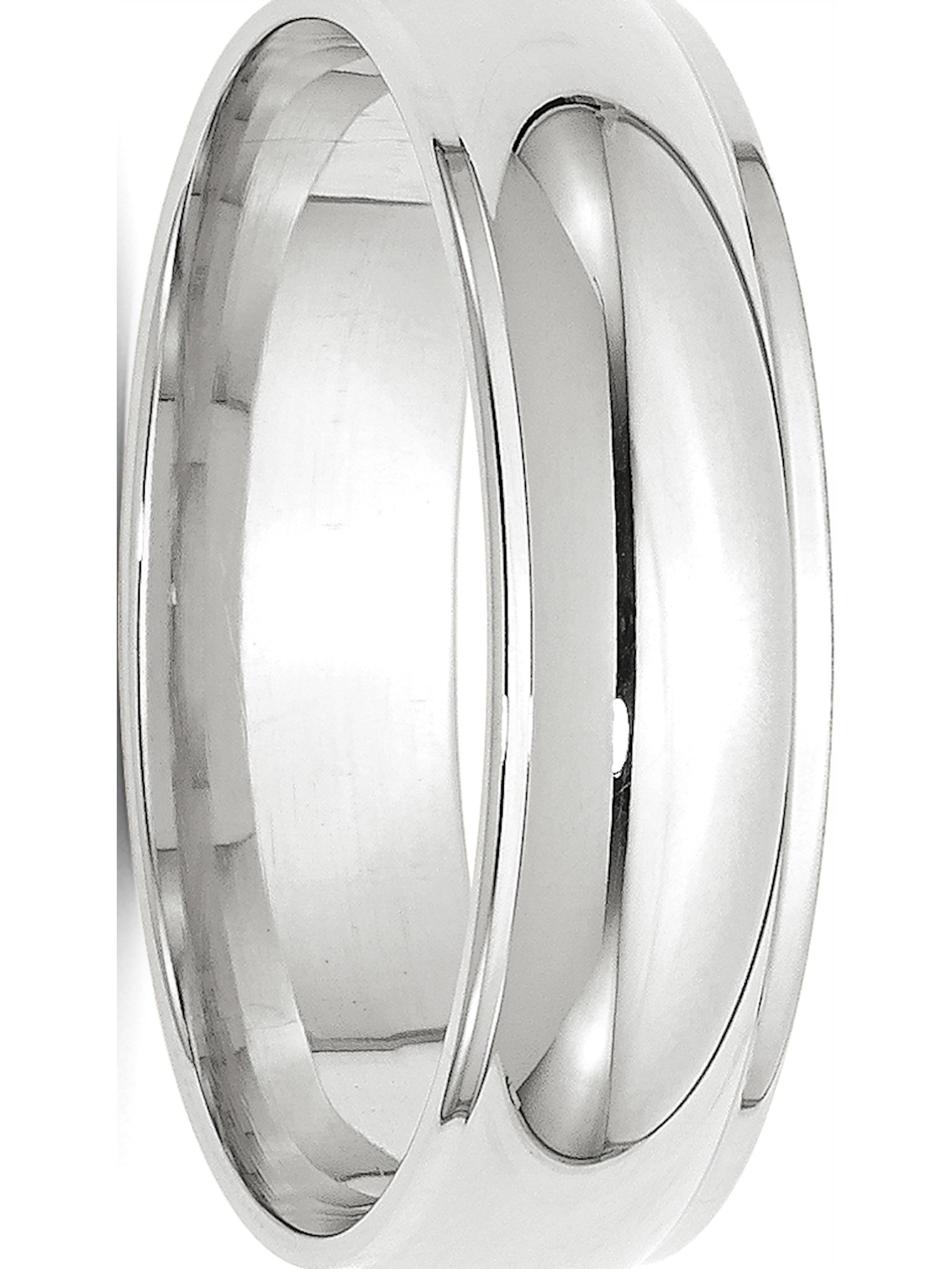 14KW 3mm Half Round with Edge Band Size 10.5 Size 10.5 Length Width 3