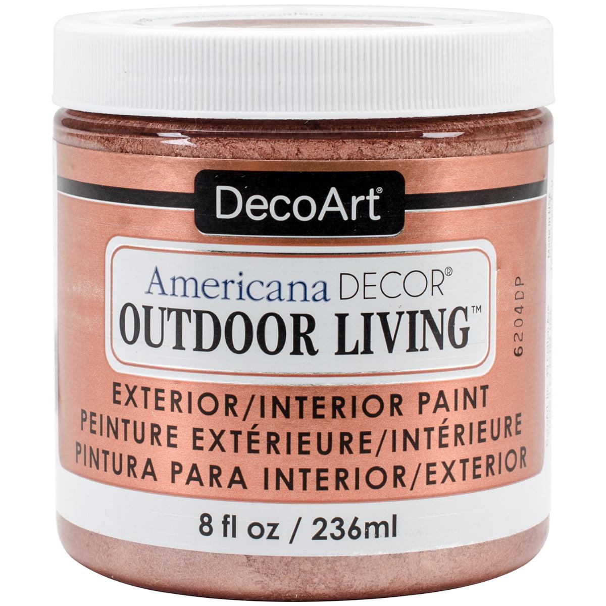 Americana Decor Outdoor Living Metallic Paint 8oz-Rose Gold