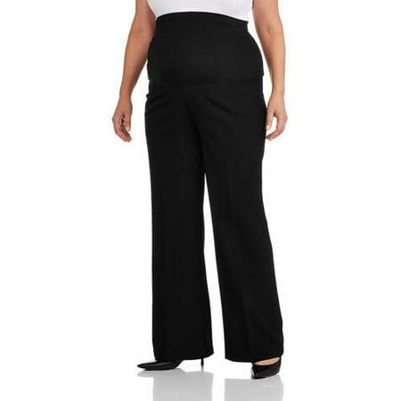 8bc5aaedb93 Maternity Plus-Size Full-Panel Wide Leg Career Pants - Walmart.com
