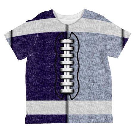 Fantasy Football Team Navy and Light Blue All Over Toddler T Shirt