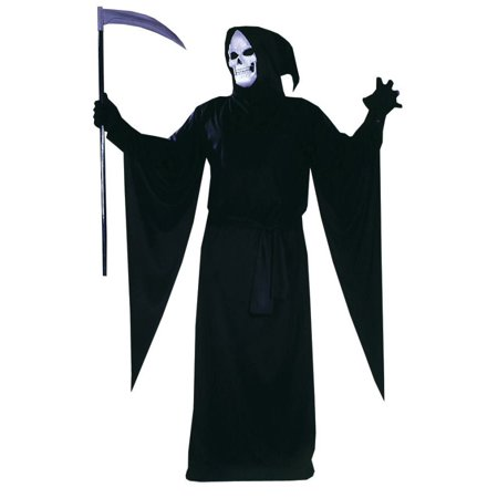 Reaper Adult Robe Halloween Costume - Grim Reaper Halloween Fancy Dress