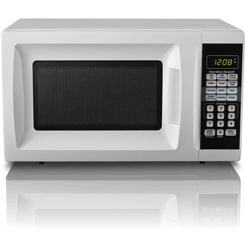Hamilton Beach 0 7 Cu Ft Microwave Oven White Walmart Com