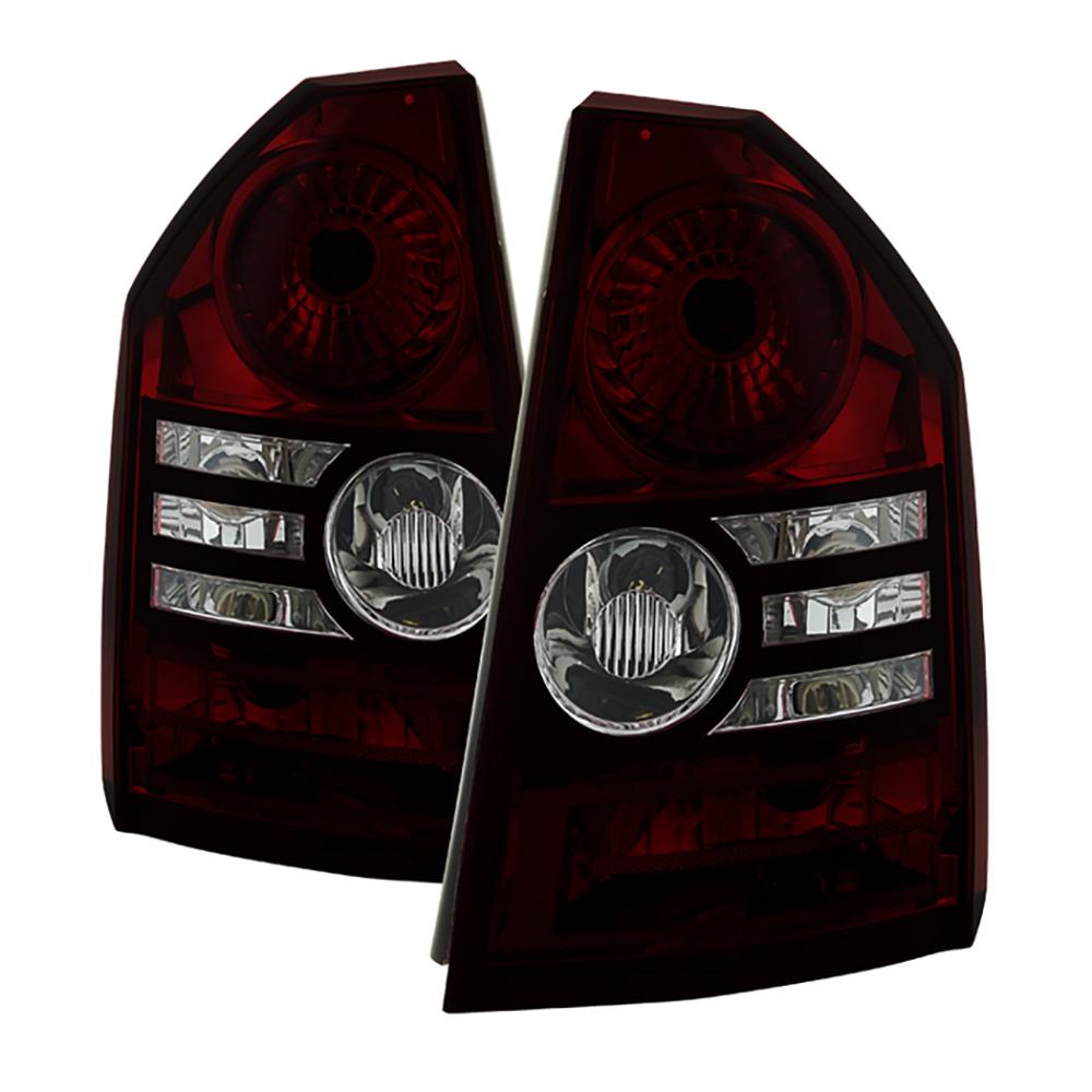 VIPMOTOZ Smoke Red Lens OE-Style Tail Light Lamp Assembly For 2008-2010 Chrysler 300C