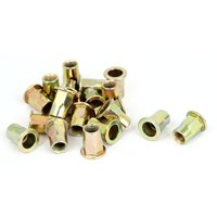 Uxcell M8x18mm Carbon Steel Half Hex Body Insert Rivets Nuts Nutserts Fasteners (20-pack)