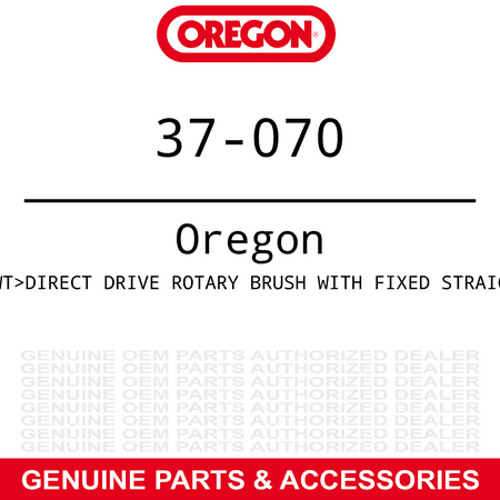 OREGON 37-070 Direct Drive Rotary Brush with fixed straigh