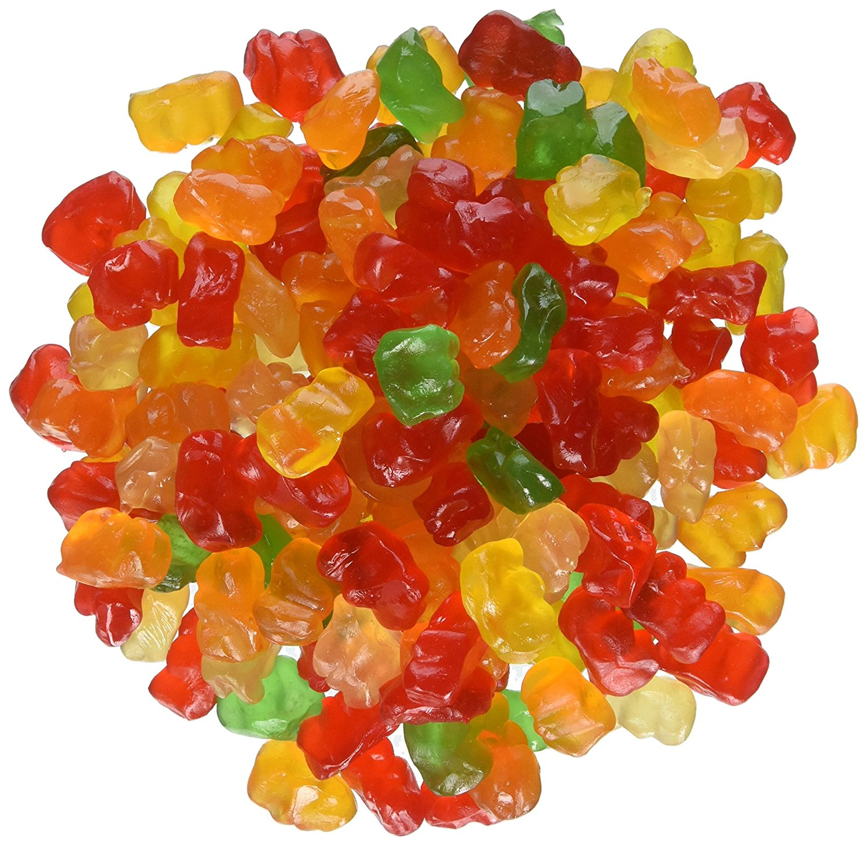Ferrara Tiny Gummy Bears Candy, 5 Pound Bulk Candy Bag by