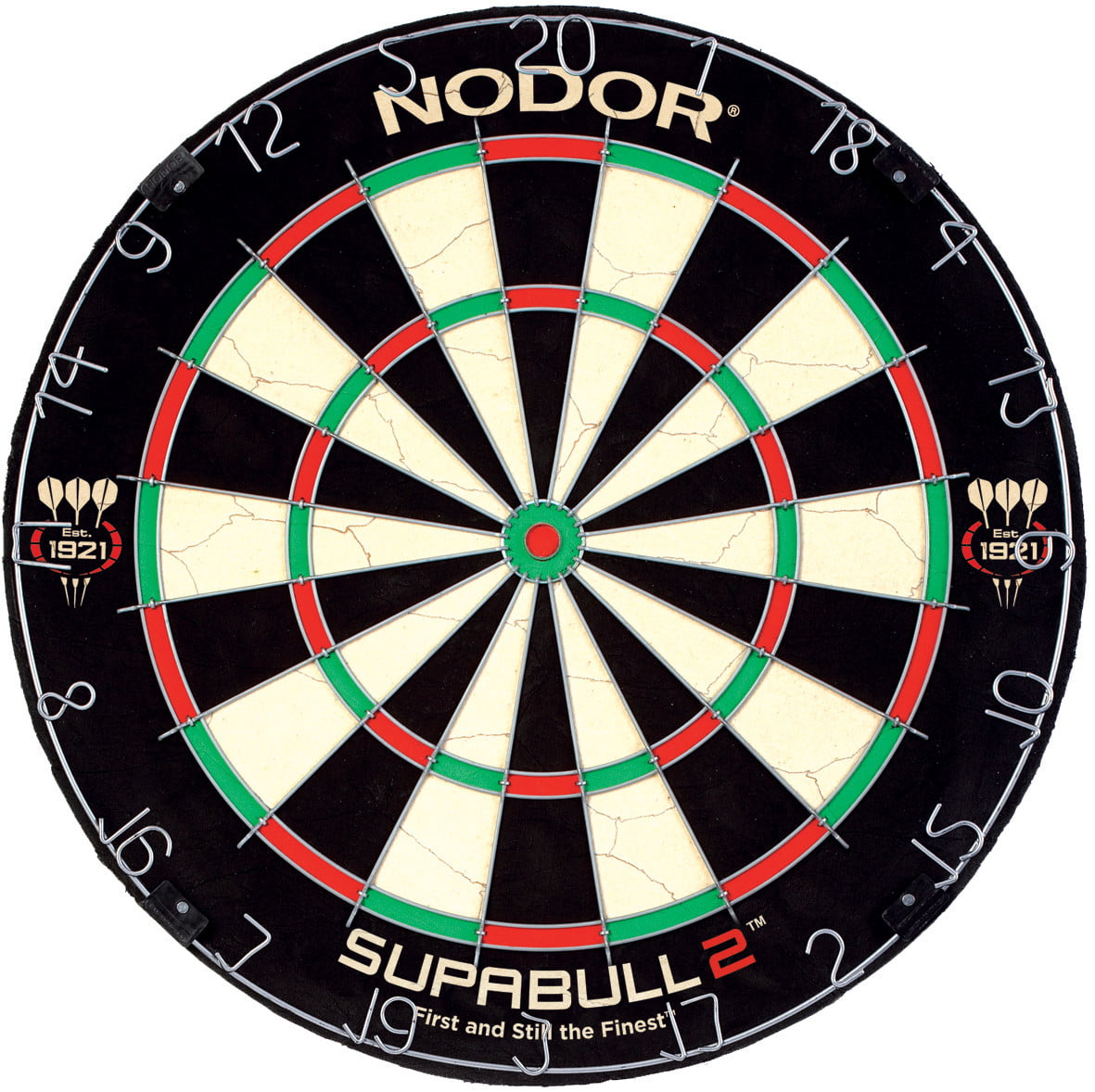 Details about  /Nodor SupaBull2 Bristle Dartboard Equipped with Easy-Turn Steel Numbers for B...
